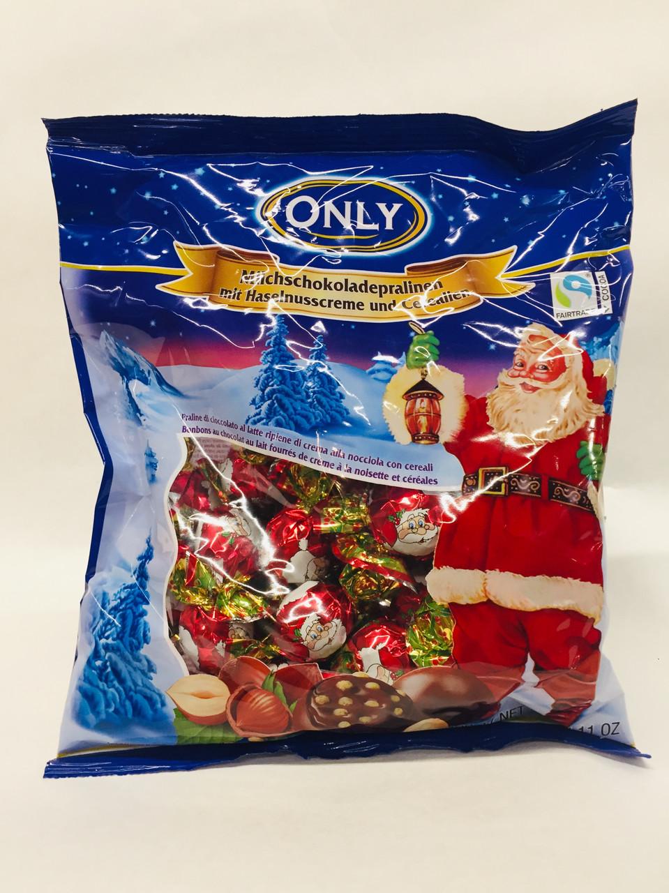 Цукерки шоколадні набір асорті новорічний Only, 400г (Польща)