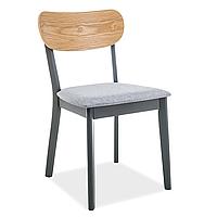 Обеденный стул Signal Vitro серый из натурального дерева с мягким сиденьем в скандинавском стиле