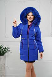 Женская зимняя куртка с натуральным мехом р. 44-58