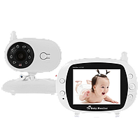 Беспроводная цифровая видео няня 850 с ночной подсветкой, датчиком температуры и большим дисплеем