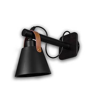 Светильник настенный на один патрон P3-201016A/1W/BK