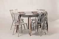 Обеденный комплект: стол Марс D100 (+40), круглый + стулья GRACE 4шт Pavlyk