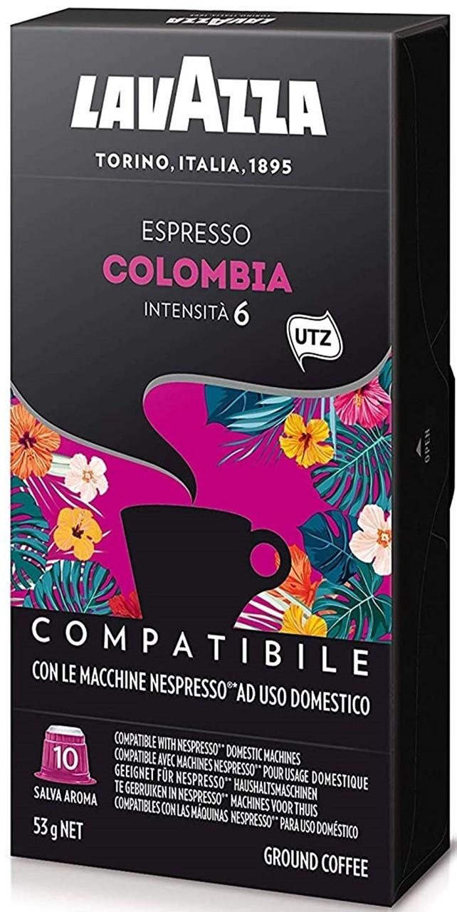 Кофе в капсулах Nespresso Lavazza Colombia UTZ  10шт