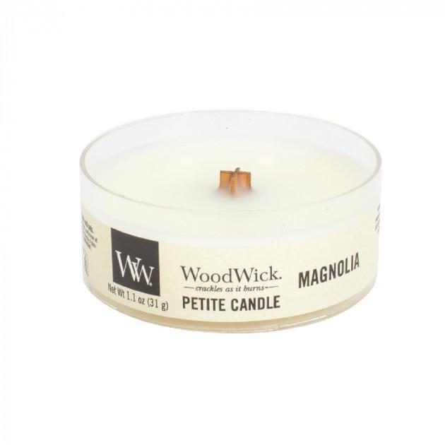 Увага! Ароматична свічка з дерев'яним гнотом WoodWick Magnolia