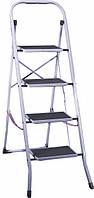 Лестница металлическая 4 ступени с резиновым покрытием 30х20 см арт. 99k567