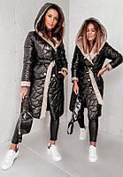 Женское трендовое стеганное пальто плащевка , синтепон 200 Размеры 42-44,46-48,50-52, 54-56