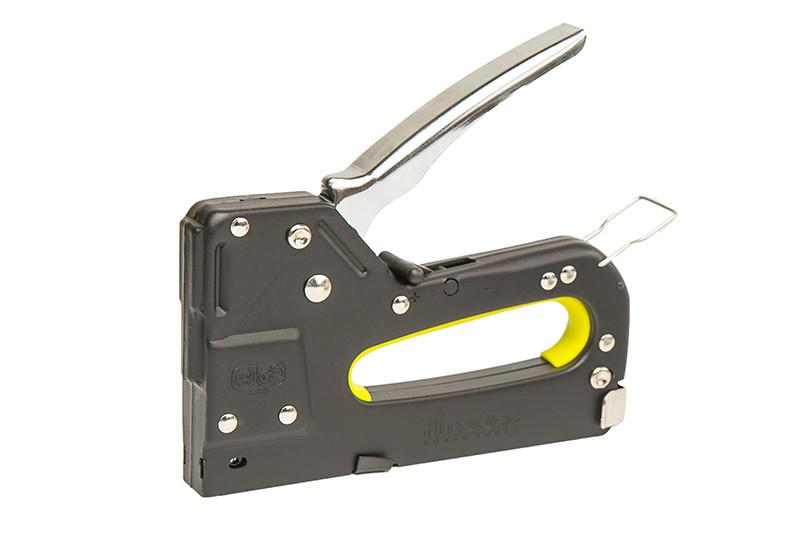 Пистолет скобозабивной З-в-1,4-14 мм. Металлический, с переключателем силы удара. HTools, 41K903
