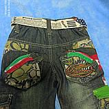Теплые модные красивые джинсы для мальчика. Пояс- резинка. Украшение- карманы. пояс. вышивка., фото 2