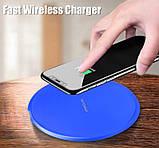 Швидка зарядка бездротова  Qi 10Вт kebidu  для Android, IOS, USB fast charger, фото 3