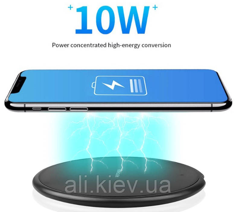 Швидка зарядка бездротова  Qi 10Вт kebidu  для Android, IOS, USB fast charger