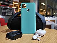 Xiaomi Redmi 9C чехол силиконовый мятно-голубой