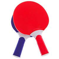 Ракетки для настольного тенниса и пинг-понга Набор 2 шт GIANT DRAGON Пластик Синий-красный (MT-5684)