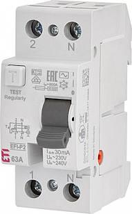 Диференціальне Реле (УЗО) EFI-2 63A ,IΔn 30mA, Icu-6kA, AC
