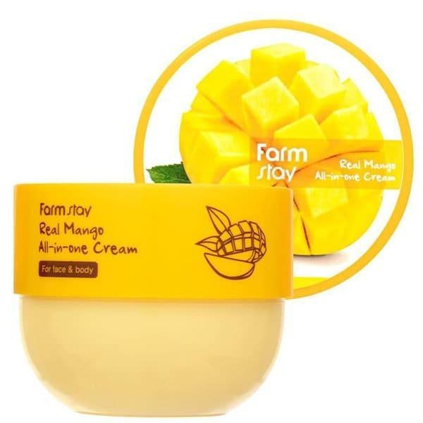 Универсальный питательный крем-баттер с экстрактом манго Farmstay Real Mango All-In-One Cream
