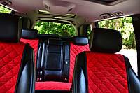 Накидки на сиденья автомобиля полный комплект, красный, фото 1