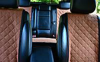 Накидки на сиденья автомобиля полный комплект, бежевый, фото 1