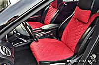 Накидки на сиденья автомобиля премиум передние, красный, фото 1