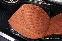 Накидки на сиденья автомобиля премиум передние, бежевый, фото 1
