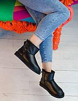 Стильні зимові УГГІ жіночі. Комфортна взуття утеплене хутром для дівчат UGG.