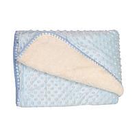 Детский плед ,одеяло,голубого цвета ,размер 90х90 см.