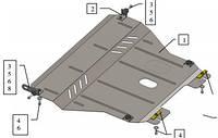 Защита двигателя Chevrolet Aveo 2002-2012