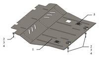 Защита двигателя Citroen C4 Picasso 2013-
