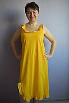 Ночнушка сарафан желтая Анжелика голубая опековка, фото 2
