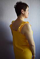 Ночнушка сарафан желтая Анжелика голубая опековка, фото 3