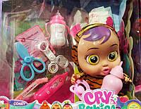 Пупс Cry babies со звуковыми эффектами,аксессуарами 30 см | Пупс Cry babies | Детский пупс | Кукла Cry Babies|