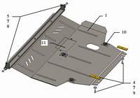 Защита двигателя Geely Emgrand ЕС7 2011-