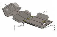 Защита двигателя Great Wall Haval H5 2011-