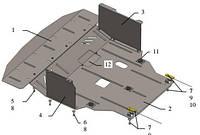 Защита двигателя Hyundai I-40 2011-