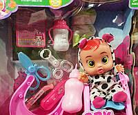 Пупс Cry babies со звуковыми эффектами, аксессуарами 30 см   Пупс Cry babies   Детский пупс   Кукла Cry Babies