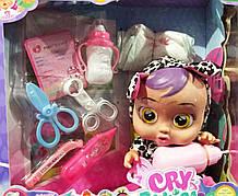 Пупс Cry babies со звуковыми эффектами,аксессуарами 30 см | Пупс Cry babies | Детский пупс | Кукла Cry Babies