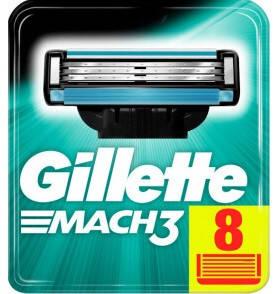 Змінні касети Gillette Mach 3  8 шт