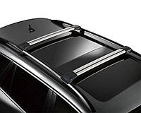 Багажник на крышу Geely Emgrand 2011- хром на рейлинги