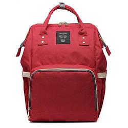 Сумка-рюкзак для мам красный