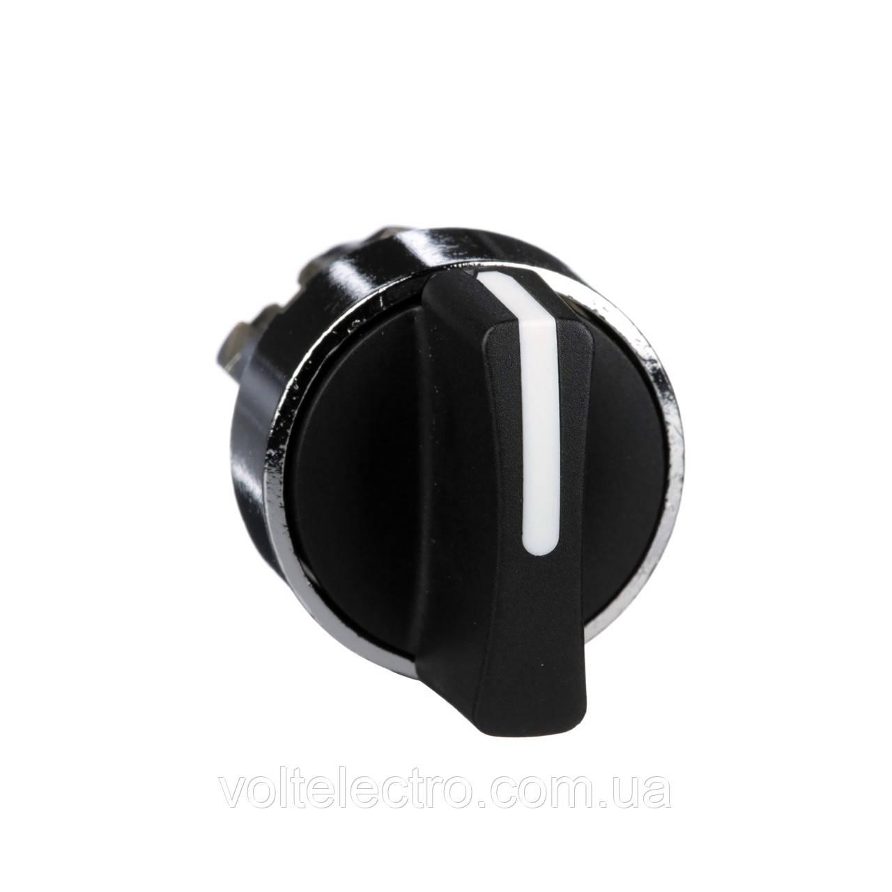 Головка для переключателя 22 мм 2 позиции черная