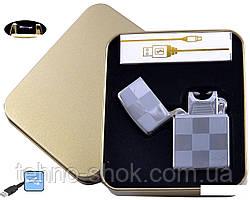 Електроімпульсна запальничка в металевій упаковці JIN LUN (USB) №4838-5