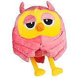 Подушка в авто игрушка плед, декоративная автомобильная подушка-плед розовая Сова, фото 2