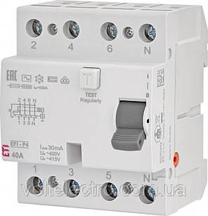 Диференціальне Реле (УЗО) EFI6-4 AC 40/0.03