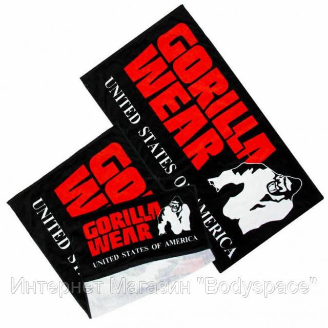 Gorilla Wear, Фитнес-полотенце Functional Gym Towel Black Red