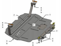 Защита двигателя Volkswagen Caddy WeBasto 2004-2010