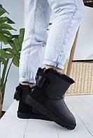 Стильные женские УГГИ с замшевым задником зимние. Комфортная обувь утепленная мехом для девушек UGG.