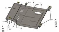 Защита двигателя ВАЗ Granta - 2190 2013-