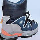 Дутики чоботи сноубутсы зима на хлопчика Тм Tom M, р 29, устілка 18,8 см Теплі зимові чобітки на змійці, фото 4