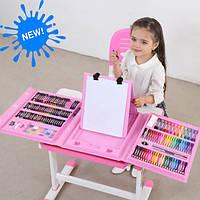 Детский набор для творчества на 208 предметов - розовый