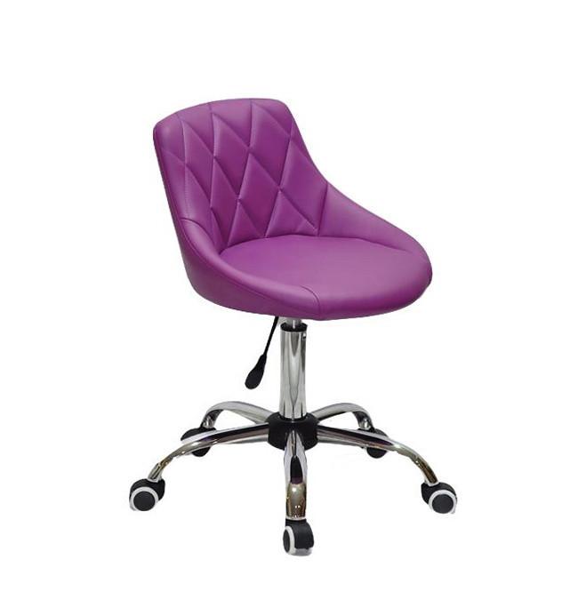 Стул мастера Форо пурпурная экокожа FORO CH-Office на колесах