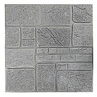 Декоративная 3Д панель стеновая Серый Гранит Камень (самоклеющиеся 3d панели для стен) текстура 700x700x8 мм