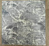 Декоративная 3Д панель стеновая Серый Мрамор Камень (самоклейка 3d панели для стен кладка текстура 700x700x7мм